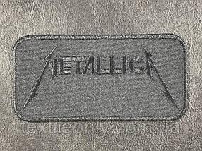 Нашивка MetallicA колір чорний 120x60 мм