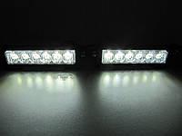 Стробоскопы S5-6 LED белые. 12-24В.с функцией ДХО