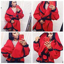 """Короткое кашемировое пальто на запах """"DENVER"""" с капюшоном (2 цвета), фото 2"""