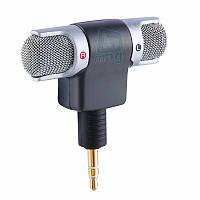 Внешний поворотный стерео микрофон MINI для камер, планшетов, смартфонов, компьютера.