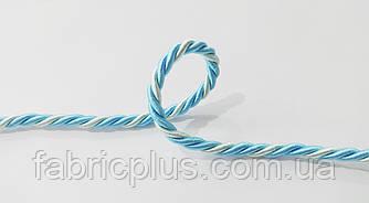 Шнур шторный атласный 5 мм мятный/голубой