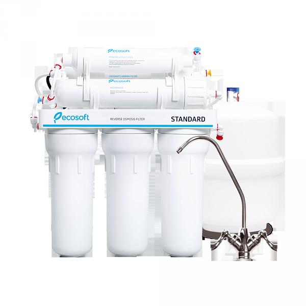Фильтр для воды обратный осмос с минерализатором Ecosoft Standard MO6-50M