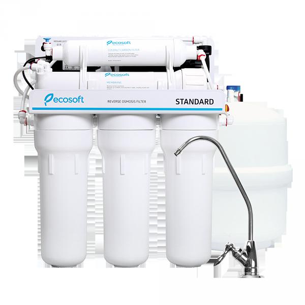 Фильтр для воды обратный осмос с помпой Ecosoft Standard MO5-50PSECOSTD