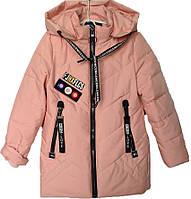 """Куртка подростковая демисезонная """"FSD*Love"""" #NK8816 для девочек. 9-10-11-12-13 лет. Персиковая. Оптом., фото 1"""