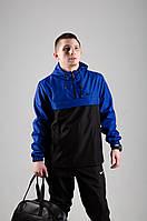 Анорак Nike, мужской черно-синий весенний