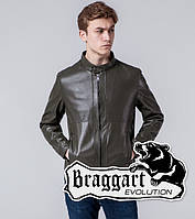 Braggart 1760 | Мужская ветровка из искусственной кожи хаки