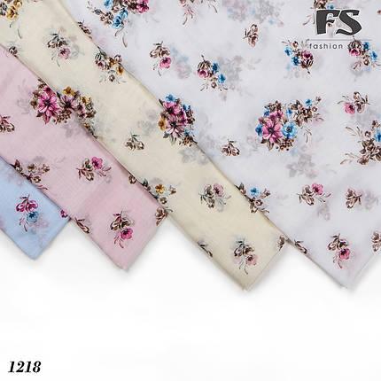 Летний розовый  батистовый платок Цветочная нежность, фото 2