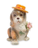 "Статуэтка Pavone ""Собака с букетом"" CMS-60/19, символ года, фото 1"