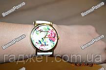 Часы женские Geneva Flower белого цвета. Женские часы, фото 2
