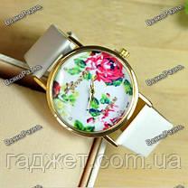 Часы женские Geneva Flower белого цвета. Женские часы, фото 3