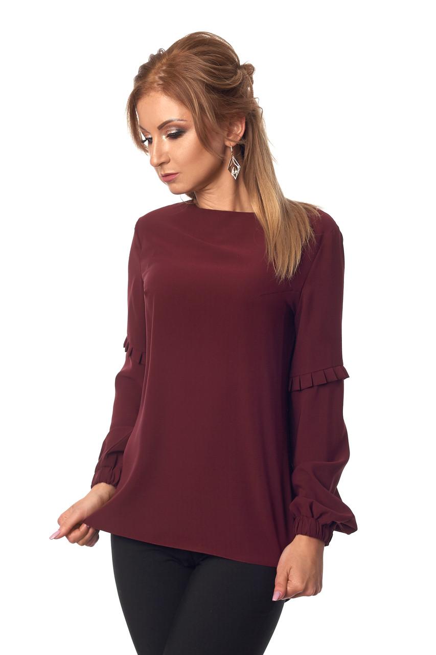 cfb5a477c5f Женская блузка без воротника №415 (марсала) - Интернет-магазин Ladcom в  Хмельницком