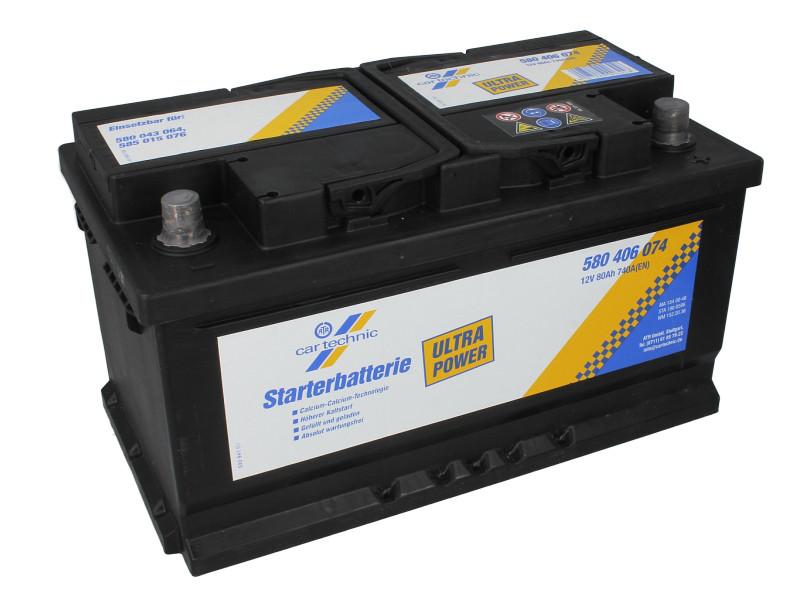 Аккумулятор Cartechnic 80Ah/740A ULTRA POWER (R+) 315x175x175