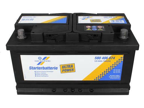 Аккумулятор Cartechnic 80Ah/740A ULTRA POWER (R+) 315x175x175 , фото 2