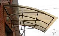 Козырьки над входом из поликарбоната