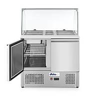 Стіл холодильний Hendi 232781 саладетта дводверний зі скляною вітриною