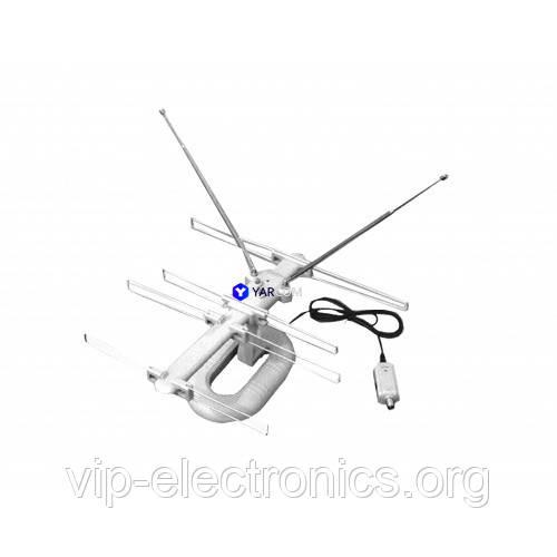 Антена ТВ МВ+ДМВ+FM YARCOM HDA-007+инжектор