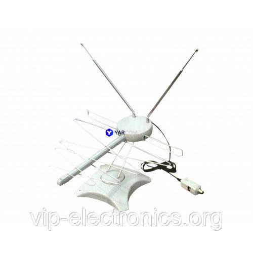 Антена ТВ МВ+ДМВ+FM YARCOM HDA-008+инжектор