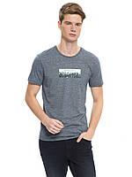 Сіра чоловіча футболка LC Waikiki / ЛЗ Вайкікі з картинкою на грудях, фото 1