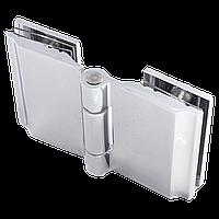 Петля для стекла 180 градусов ( Стекло-стекло ) Хром