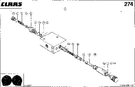 ДЕЛИТЕЛЬ ПОТОКА - CLAAS LEX 430-415
