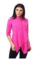 Женская блуза с ассиметричным низом , фото 1