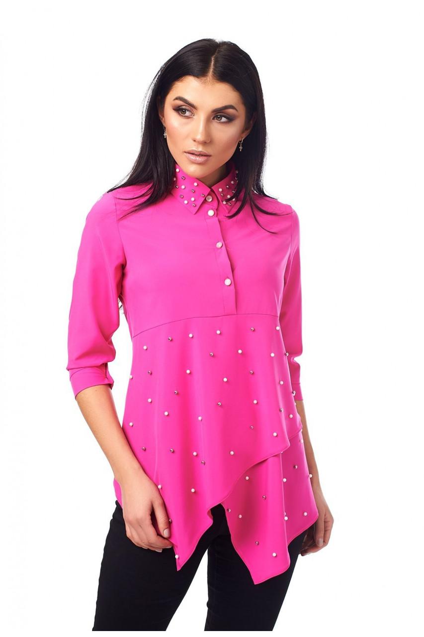 Женская блуза с ассиметричным низом