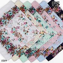 Летний мятный  батистовый платок Модница, фото 2