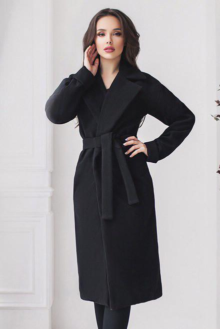 Черное демисезонное пальто   - Даниель -