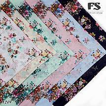 Розовый летний батистовый платок Модница, фото 3
