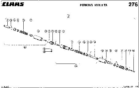 ГИДРОЦИЛИНДР, РЕГУЛИРОВКА ОБОРОТОВ ДВИГАТЕЛЯ - CLAAS LEX 430-415
