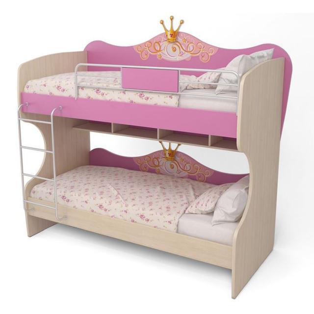 Кровать двухъярусная Cn-12 Cinderella (розовая)