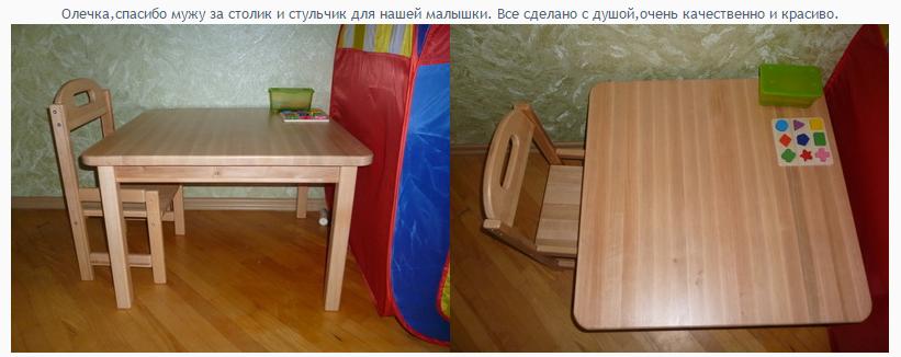 Детский растущий стол и стул