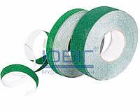Абразивная противоскользящая лента, цвет Зеленый, ширина 25мм.