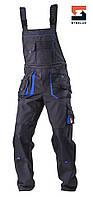 Спецодежда рабочий мужской полукомбинезон демисезонный с карманами SteelUZ сверхпрочная ткань, фото 1