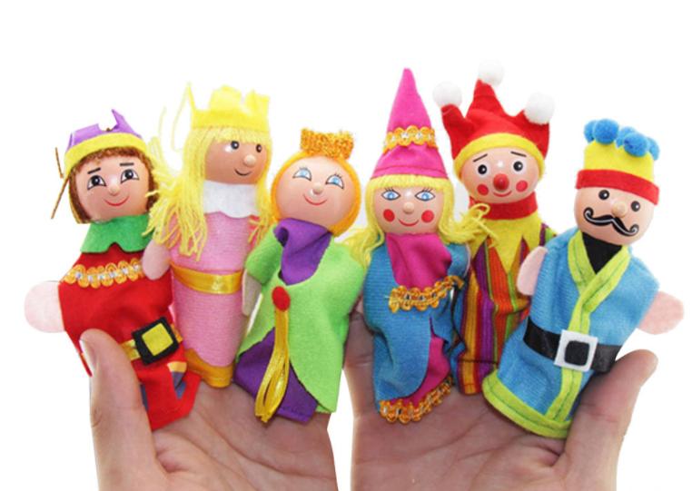 Набір плюшевих іграшок на пальчики 6 штук. Пальчиковий театр Королівство
