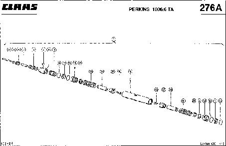 ГИДРОЦИЛИНДР, РЕГУЛИРОВКА ОБОРОТОВ ГВИГАТЕЛЯ - CLAAS LEX 430-415 (4)