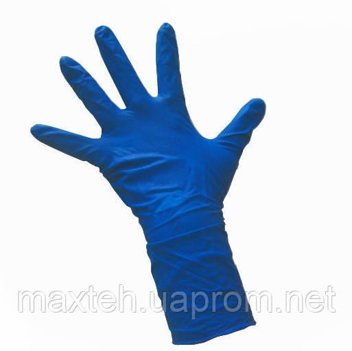 Рукавички нітрилові без пудри сині S