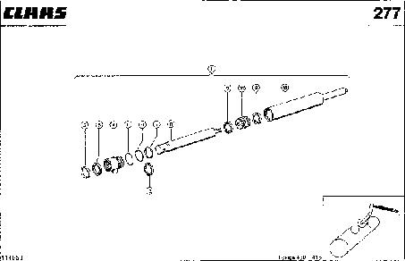 ГИДРОЦИЛИНДР; МОЛОТИЛКА ВКЛ. / ВЫКЛ. - CLAAS LEX 430-415