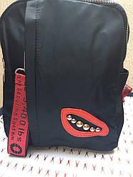 Рюкзак женский черного  цвета болоневый, качественный