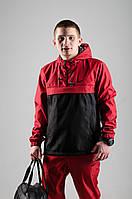 Анорак Nike, мужской черно-красный весенний