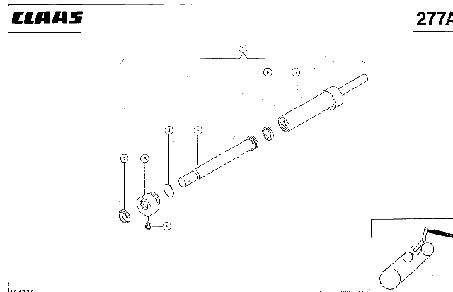 ГИДРАВЛИЧЕСКИЙ ЦИЛИНДР, МОЛОТИЛКА ВКЛ/ВЫКЛ - CLAAS LEX 430-415