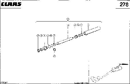 ГИДРОЦИЛИНДР, РАЗГРУЗКА БЕНКЕРА - CLAAS LEX 430-415