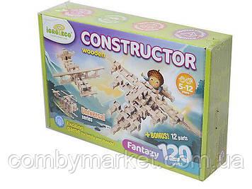 ФАНТАЗИЯ 120 - деревянный конструктор Игротеко 120+12 деталей (0004)