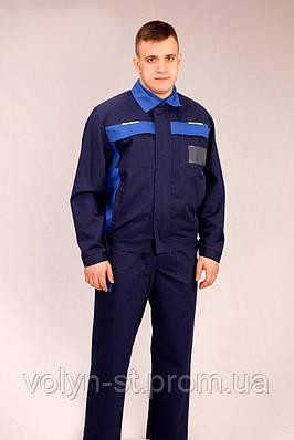 Костюм специалист синий с голубой отделкой