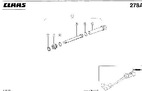 ГИДРОЦИЛИНДР, РАЗГРУЗКА БЕНКЕРА - CLAAS LEX 430-415 (2)