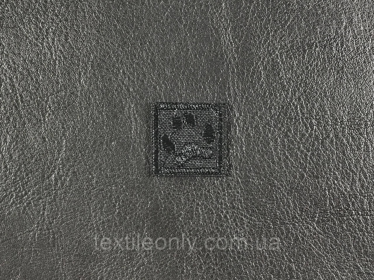 Нашивка Лапа цвет черный 20х20 мм