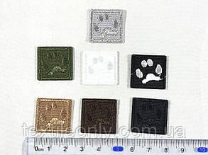 Нашивка Лапа цвет черный 20х20 мм, фото 2