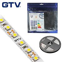 Светодиодная лента GTV, SMD 3528, 120 led/m, 9.6W/m, 3200K, IP20, Premium. ПОЛЬША!!! Гарантия - 2 года