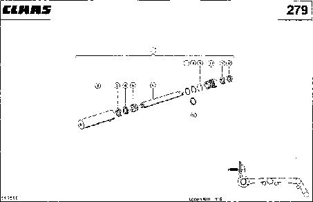 ГИДРОЦИЛИНДР, ВЫКЛЮЧАТЕЛЬ ИЗМЕЛЬЧИТЕЛЯ СОЛОМЫ - CLAAS LEX 430-415