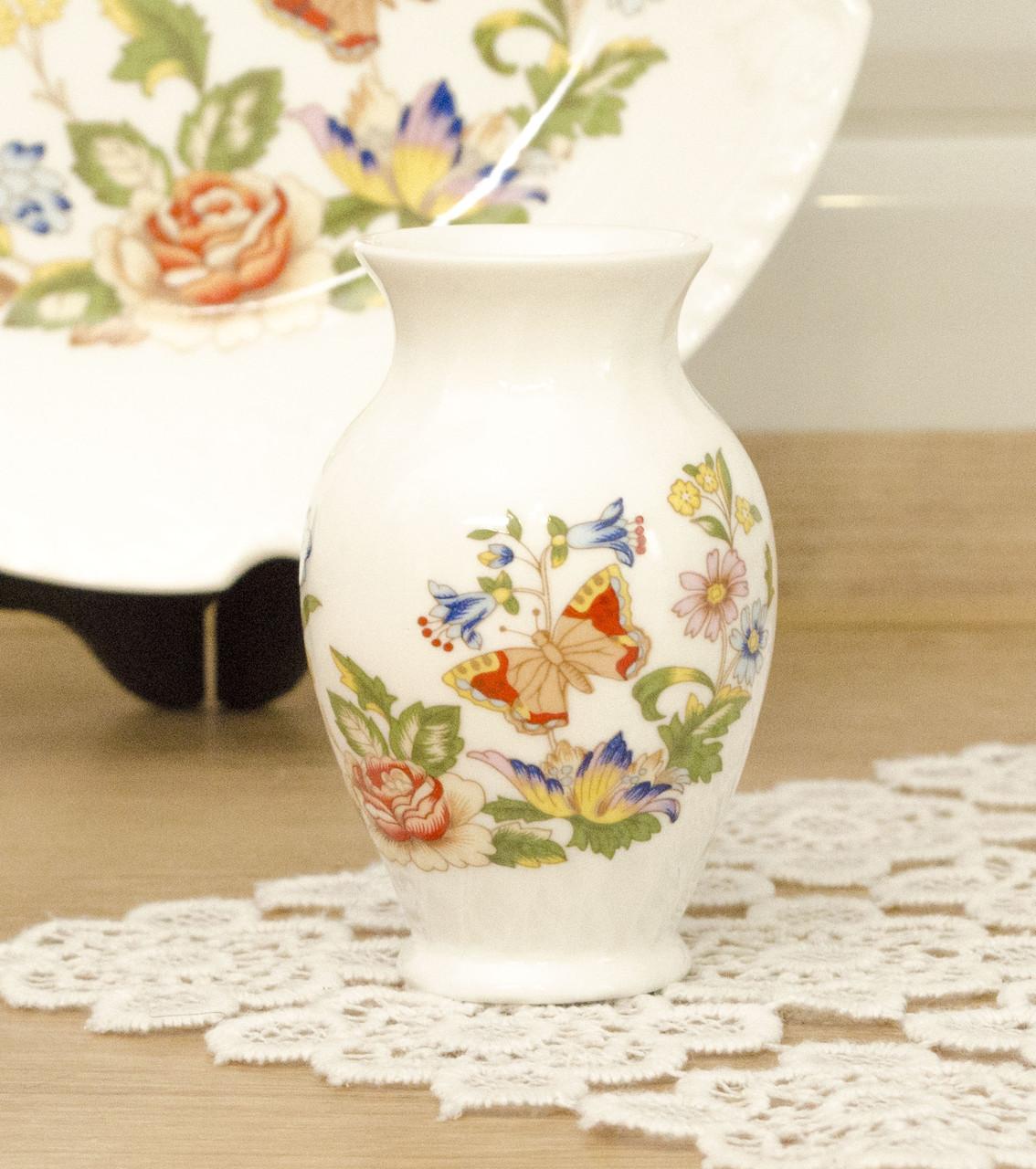 Фарфоровая декоративная вазочка, костяной фарфор, Aynsley, Англия